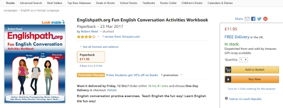 Amazon - English conversation book for high schools reviews